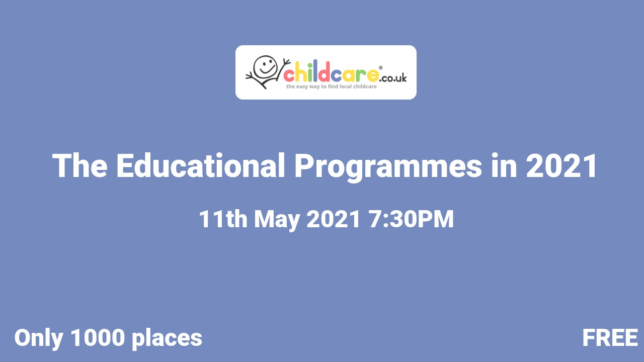 The Educational Programmes in 2021 poster