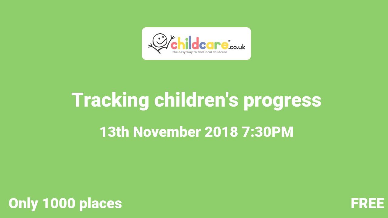 Tracking children's progress poster
