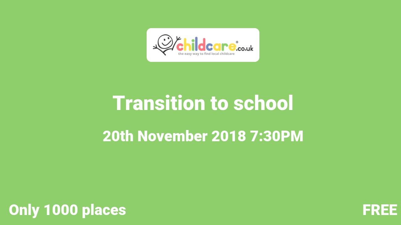 Transition to school  poster