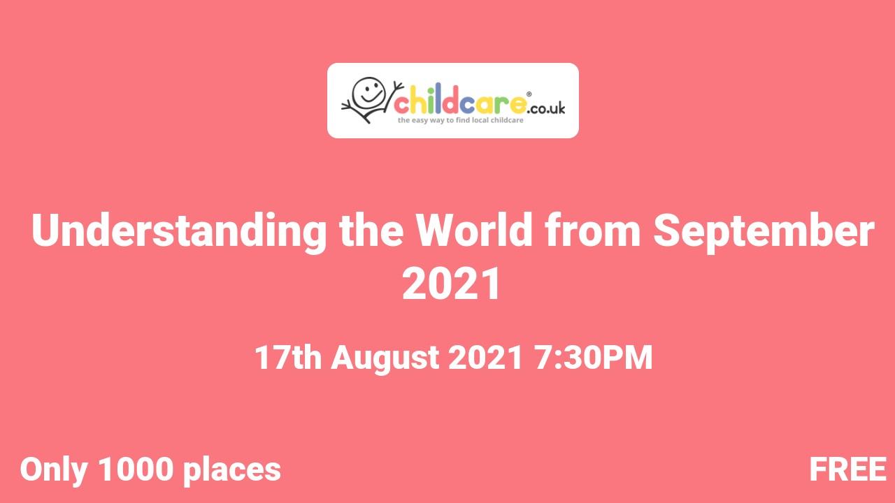 Understanding the World from September 2021 Poster