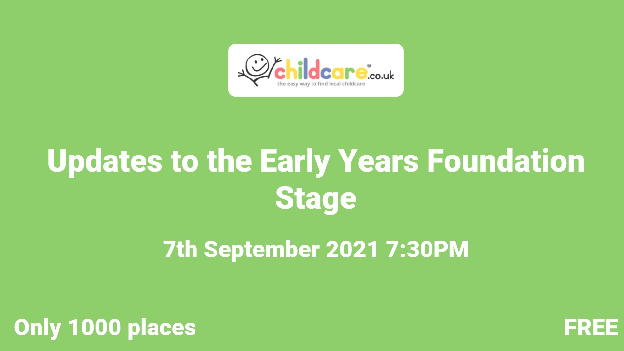 Updates to the Early Years Foundation Stage poster