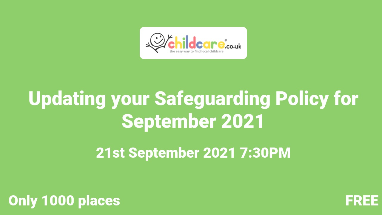 Updating your Safeguarding Policy for September 2021 poster