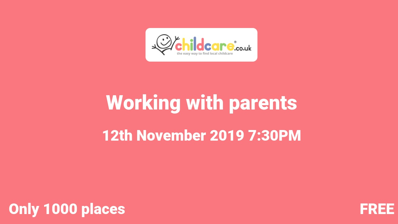 Working with parents poster
