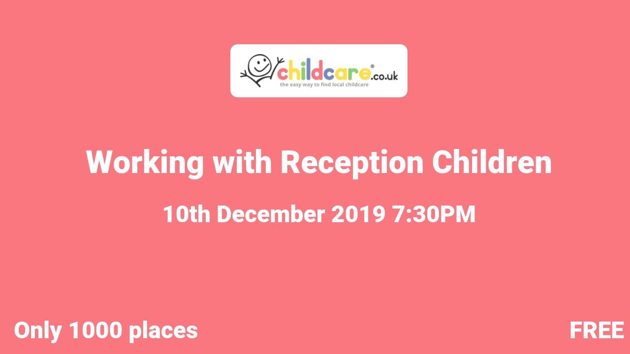 Working with Reception Children  poster