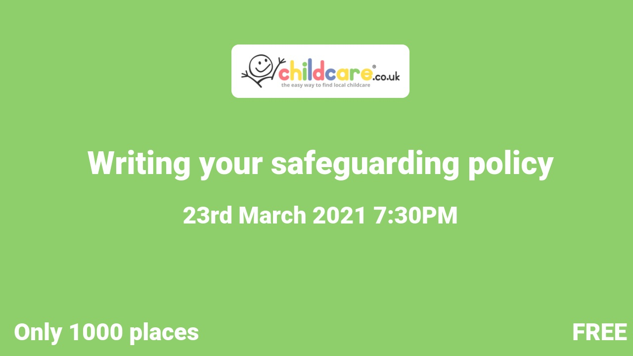 Writing your safeguarding policy poster